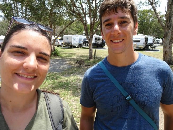 Selfie avec le kangourou