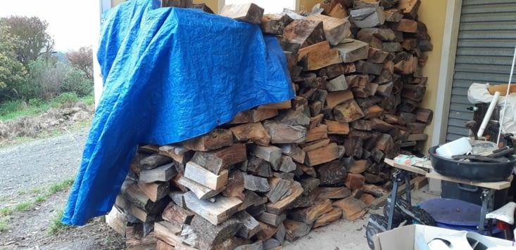 Première tâche, ranger le bois