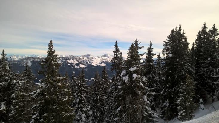depuis le Rocher Blanc on voit le mont Blanc ...