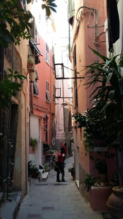 A l'arrivée au village de Corniglia, partis de Monterrosso à pied, il a fallu au préalable