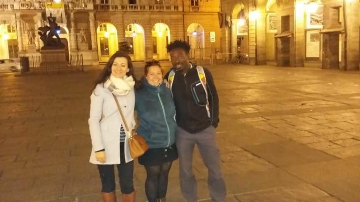 """Turin by night avec ma copine Hélène qui nous fait découvrir le charme de la """"trattoria"""""""