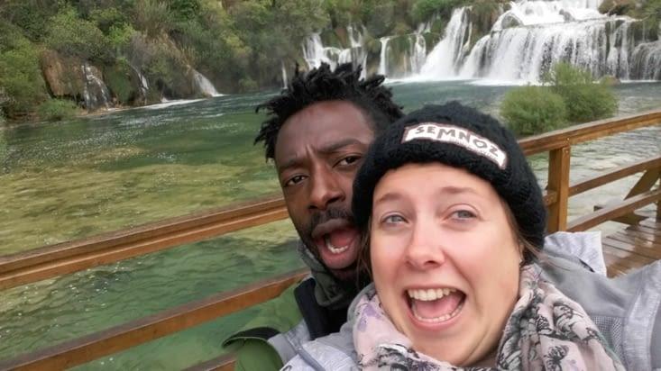 Entre deux averses au parc National de Krka aux cascades de Kravin.
