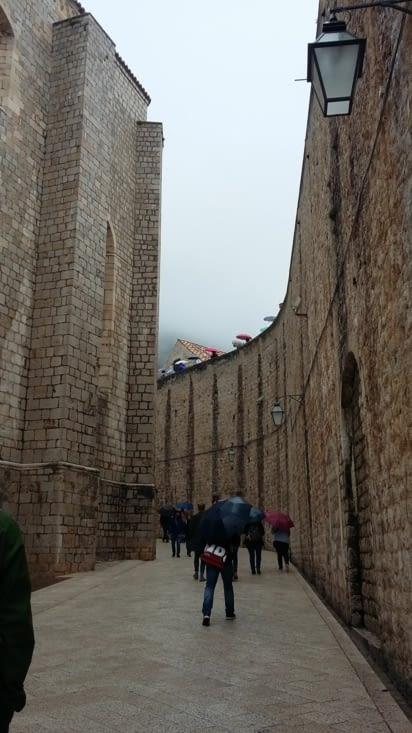 les murailles de la ville qui peuvent se visiter mais pas gratuitement, alors on reste en