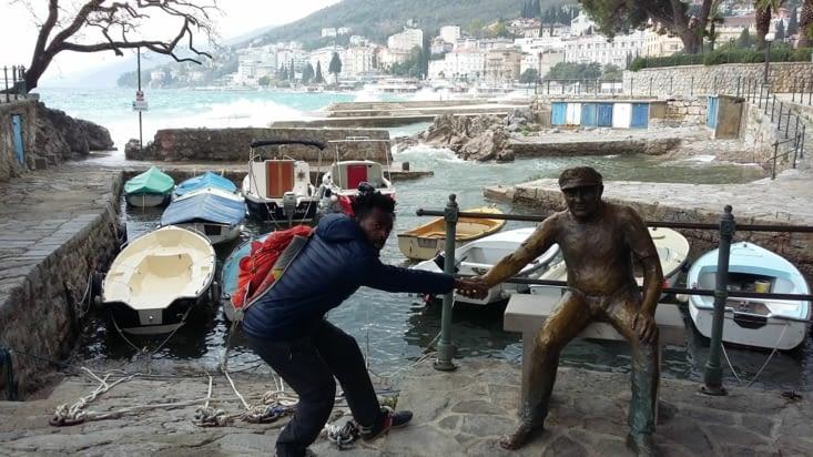 petit coup de pouce à Opatija, coin ancestral des pêcheurs ayant pris goût à ballader les