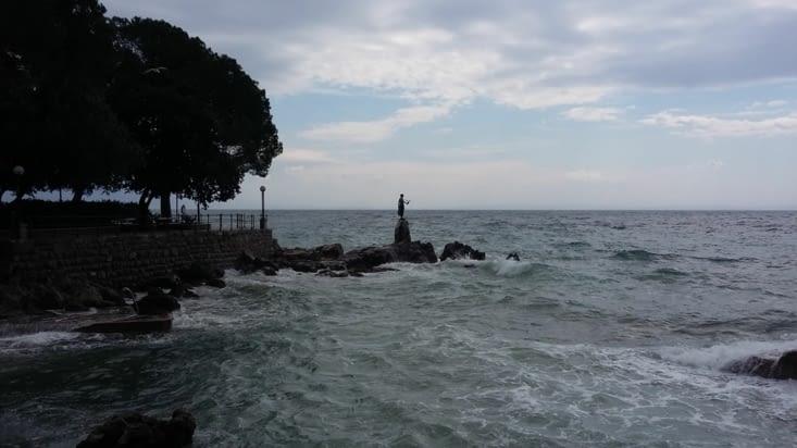 Sirène protectrice de la côte adriatique sur Opatija
