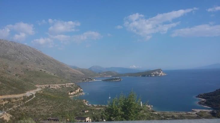 la côte vers la Grèce, prochaine étape...