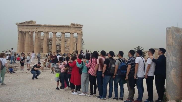Le parthénon d'Athéna, juste un peu prisé