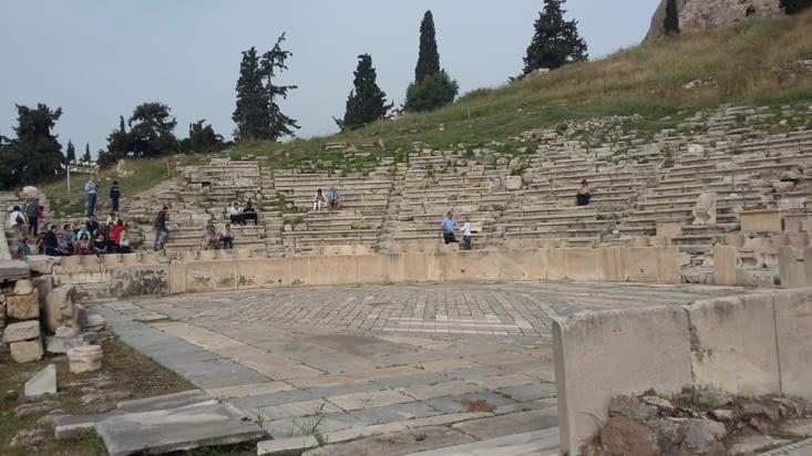 Le théâtre de Dyonisos ( dieu du vin et de la fécondité)
