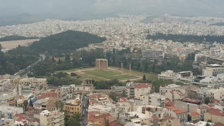 Les ruines du temple de Zeus, Dieu des dieux de la mythologie grecque
