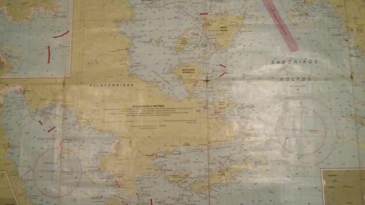 La carte pour repérer la prochaine destination: Dokos, plage déserte dans une jolie baie