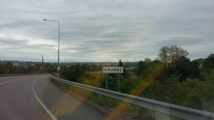 C'est à Kaunas que nous décidons de faire la pause ce midi: preuve que ce n'est pas une