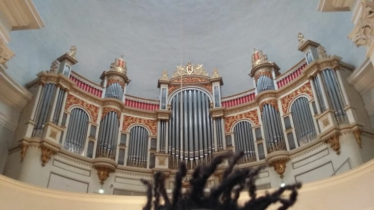L'orgue de la cathédrale, majestueux dans ce pays pour les amateurs d'orgue. Quand je fais