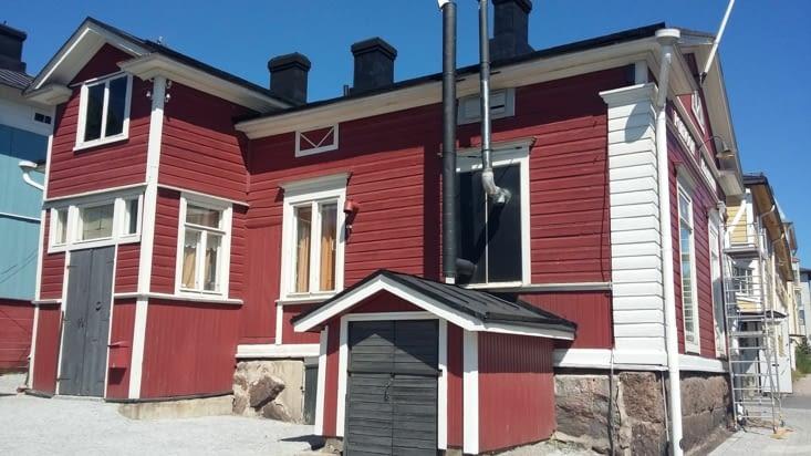 maison traditionnelle de Porvoo