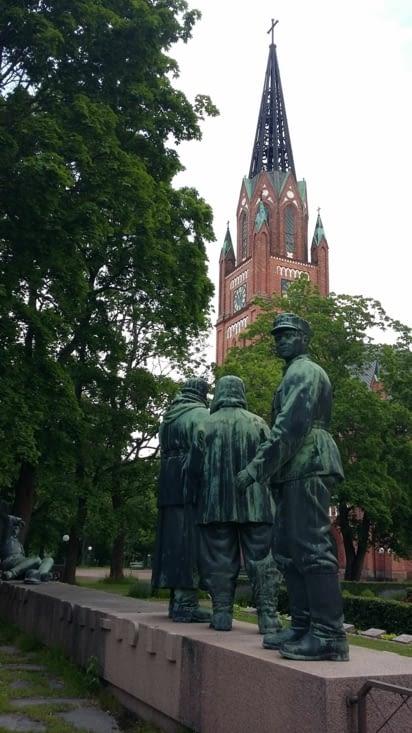 Pori, mausolée en hommage aux soldats de 39/45