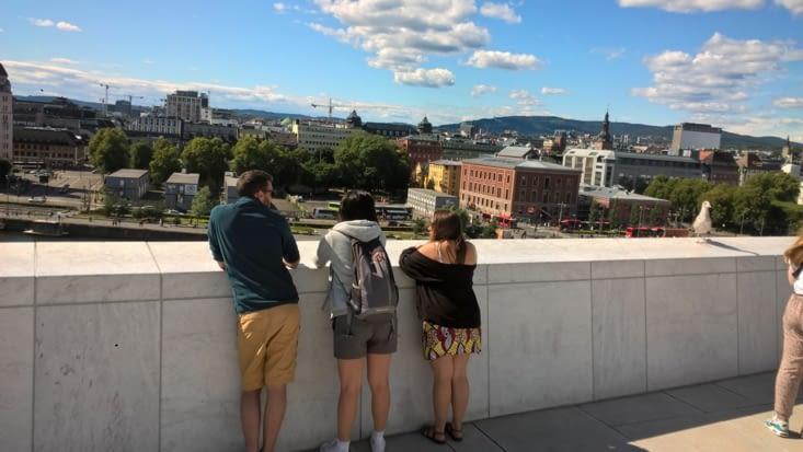 Oslo, sur les toits de l'opéra, chef d'oeuvre architectural