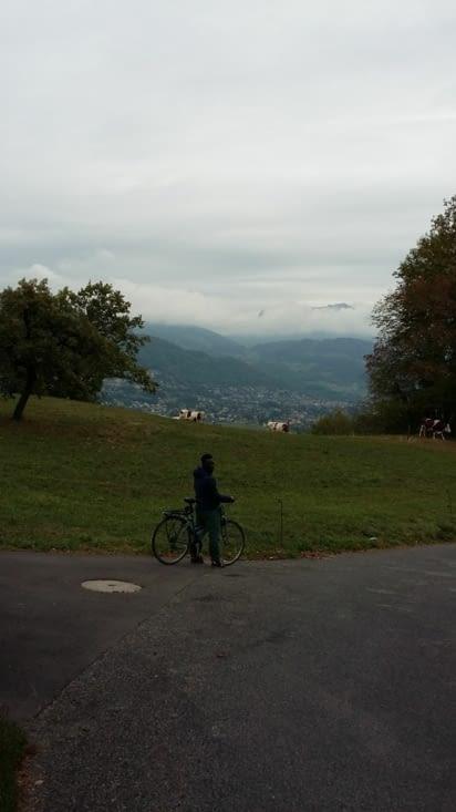 visite de Vevey que l'on rejoint en vélo et funiculaire