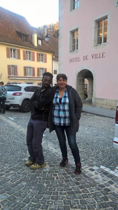 A Saint Ursanne avec Rosa, colombienne de passage