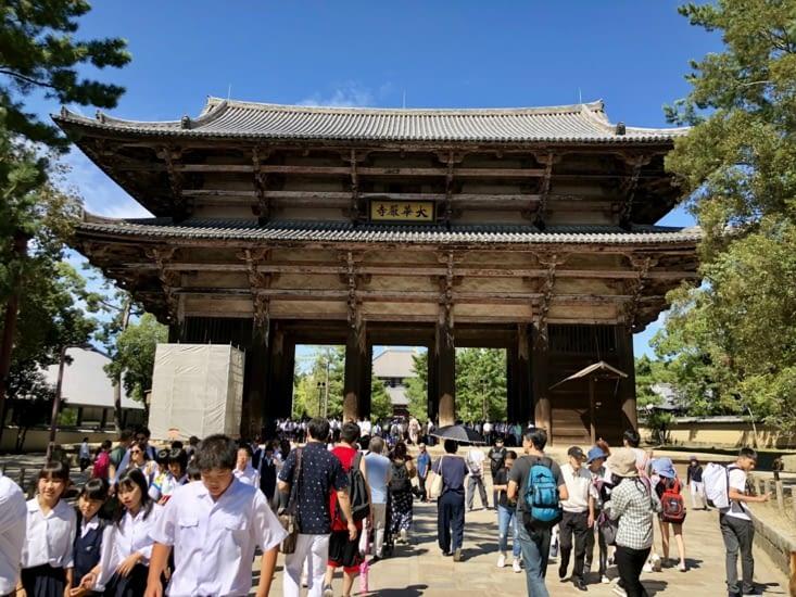 La porte d'entrée du temple Todaiji