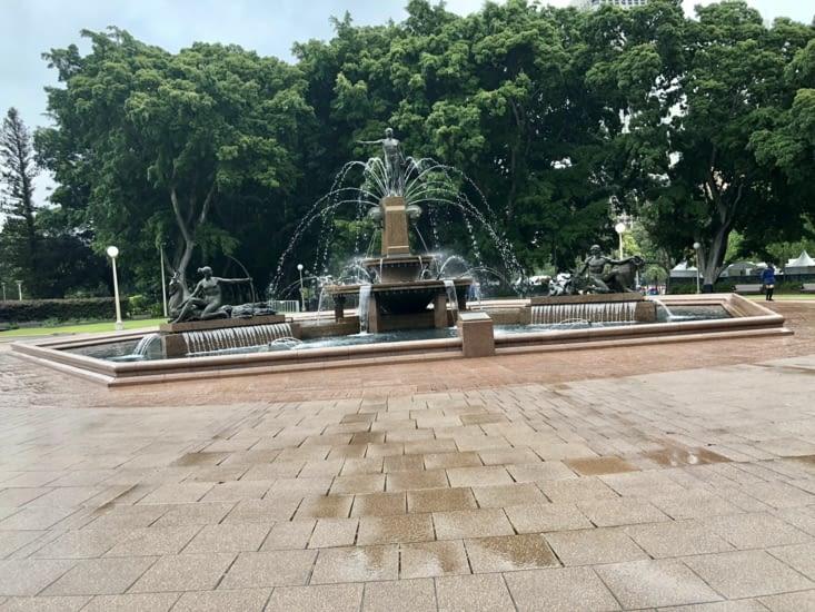 Fontaine d'Achille en hommage à l'alliance franco australienne en 14-18