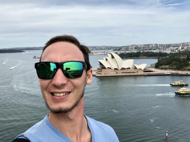 Me voilà au sommet du Harbour Bridge