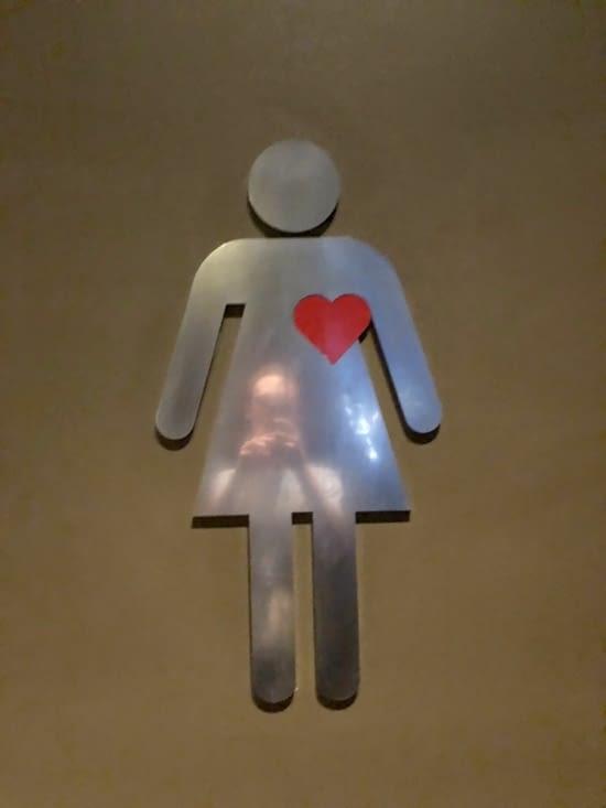 Les toilettes pour femmes