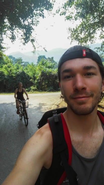Les premiers mètres : on est heureux d'aller faire du vélo !