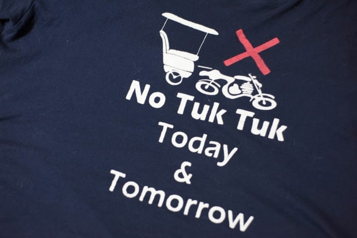 No tuk tuk t-shirt
