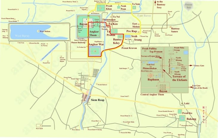 Carte des temples
