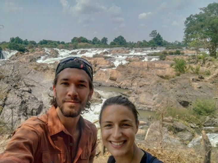 Nous aux Li Phi waterfall