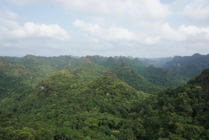 Vue des montagnes de l'ile