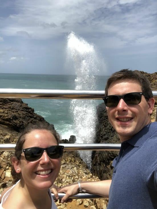 Petite curiosité, le Blow Hole provoque un geyser lors de certaines vagues