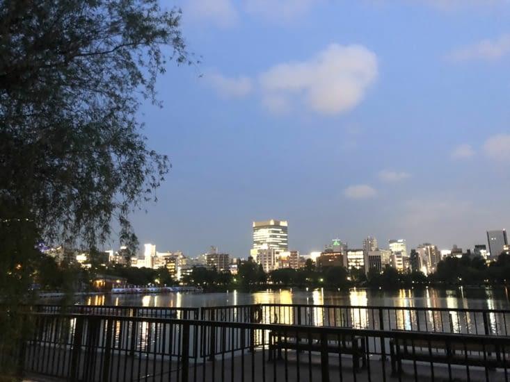 Vue depuis le parc de Ueno