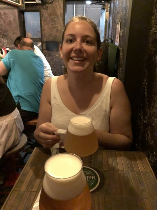 Petite pause dans un des bars du Golden-Gai