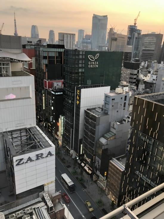 Vue imprenable sur Tokyo