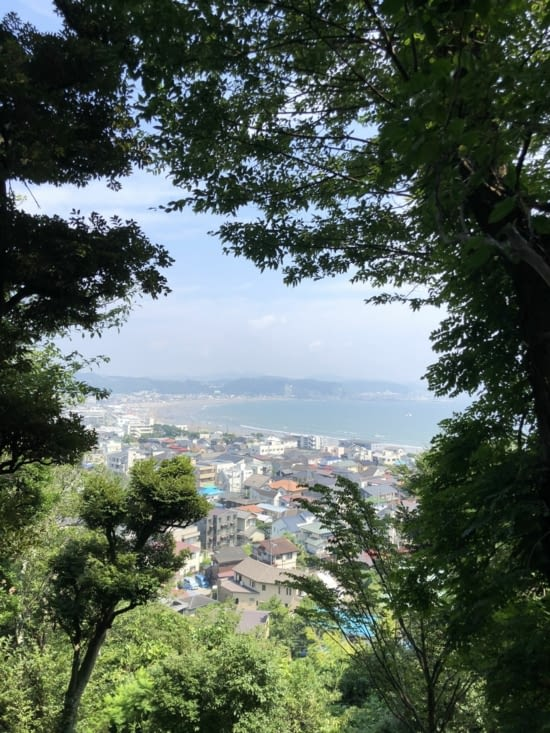 Aperçu de l'océan depuis le site de Hase-dera