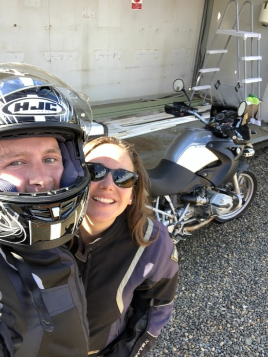 Départ en moto pour la journée