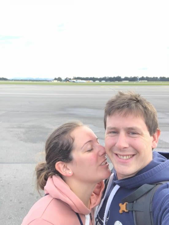 Arrivée à l'aéroport de Christchurch