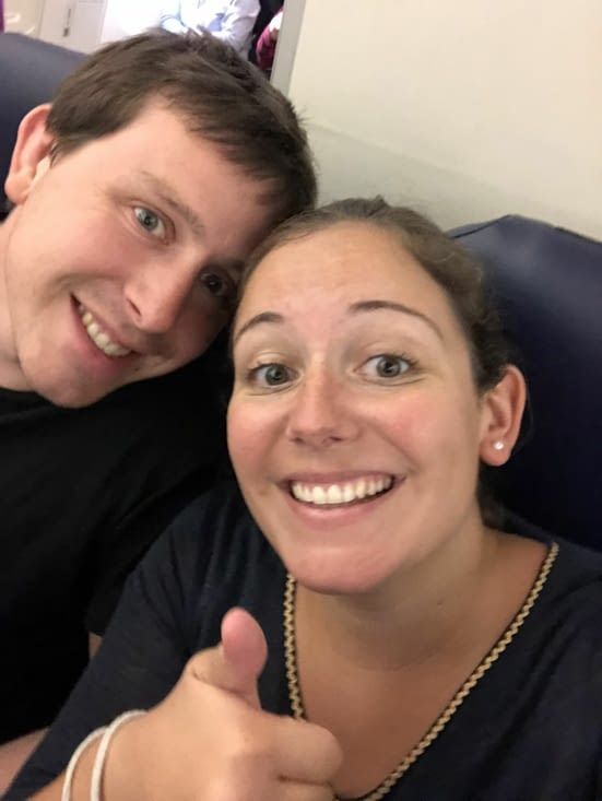 Dans l'avion, bientôt la fin