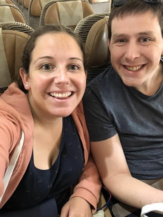 Dans l'avion :)