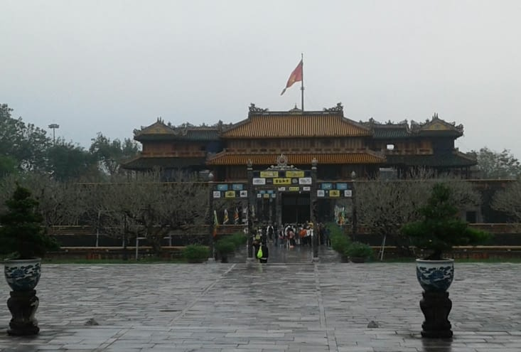 la citadelle impériale est au coeur de la ville.De nombreux monuments relatifs à la vie