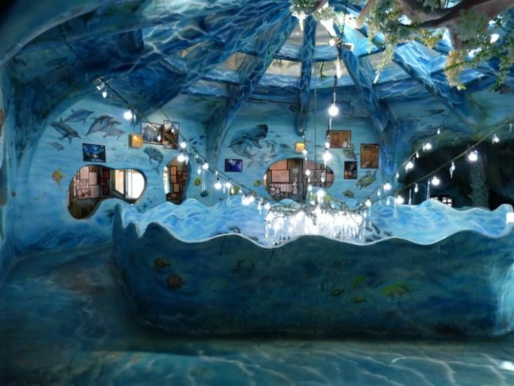 et au sous sol une plongée dans le monde sous marin