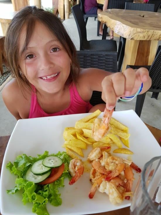 et comme nous sommes sur la côte au menu grosses crevettes