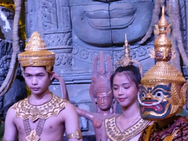 le roi et la reine d'Angkor