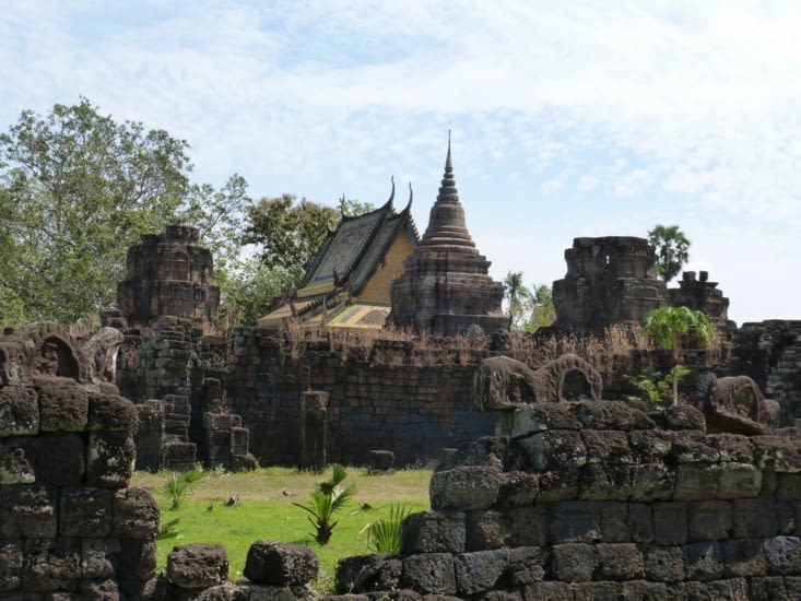 vue du temple et de la pagode