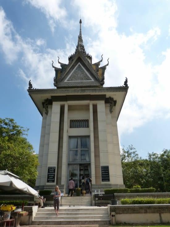le stupa en l'honneur des victimes