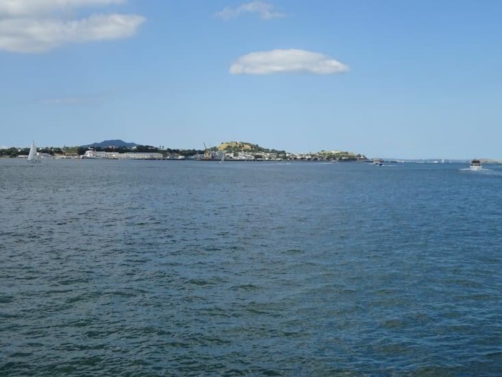 La vue depuis le port d'Auckland