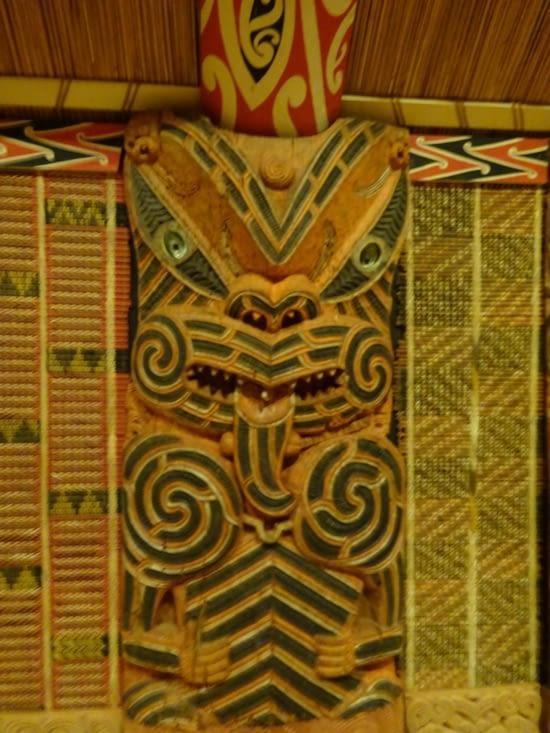 La partie Maoris de l'Auckland museum 2
