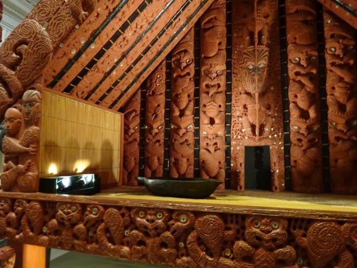 La partie Maoris de l'Auckland museum