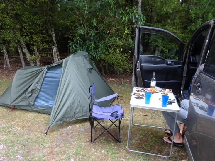 Notre installation au camping