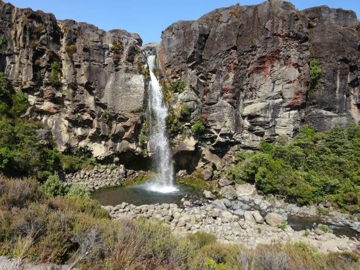 A la fin de la rando, nous passons par les falls du taranaki